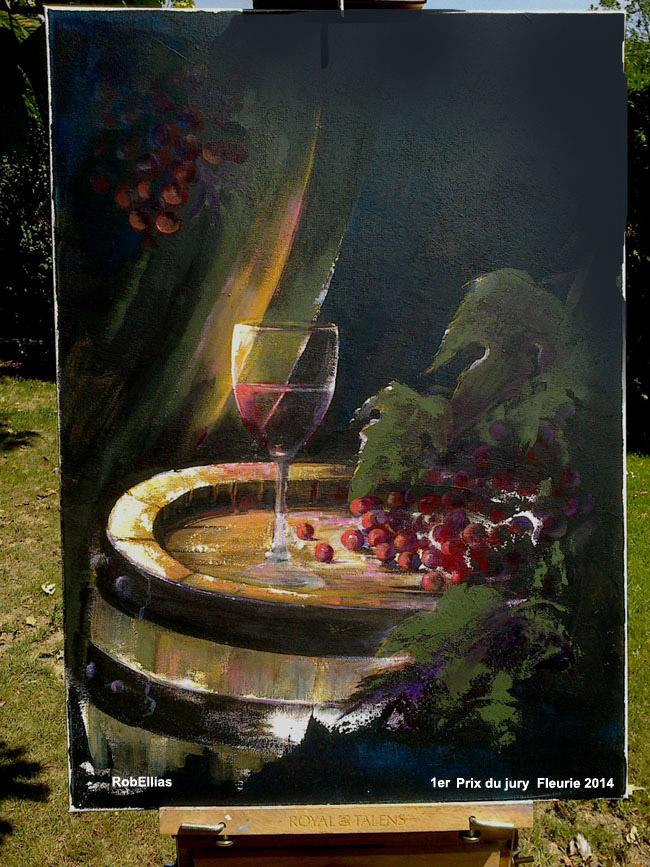 Le theme le vin de la vigne beaujolais freurie
